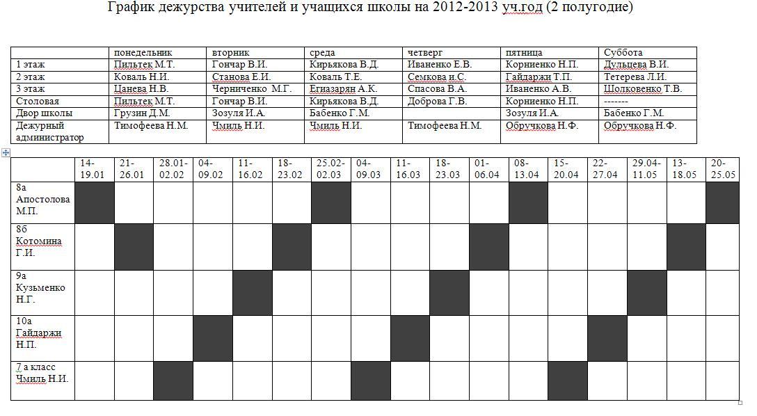 таганрогский металл техн график дежурств в 2016 г